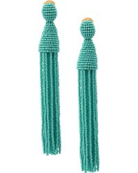 Oscar de la Renta - Beads Draped Earrings - Lyst