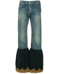Tu Es Mon Tresor - Scalloped Flared Edge Jeans - Lyst