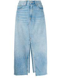 Rag & Bone - Front Slit Skirt - Lyst
