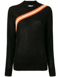 Calvin Klein - Diagonal Stripe Knitted Top - Lyst