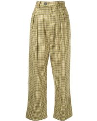 Strateas Carlucci - Check Print Trousers - Lyst