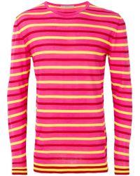 Ermanno Scervino - Striped Pattern Sweater - Lyst