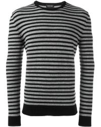 Exemplaire - Striped Crew Neck Sweater - Lyst