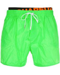 DSquared² - Logo Band Swim Shorts - Lyst