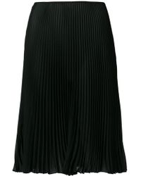 Prada - All Designer Products - Plisse Flared Skirt - Lyst