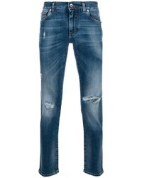 Dolce & Gabbana - Ripped Detail Jeans - Lyst