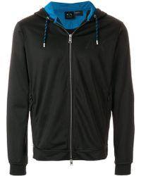 Armani Exchange - Zipped Hooded Jacket - Lyst