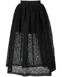 Vera Wang - Full Floral Lace Skirt - Lyst
