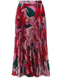 Marco De Vincenzo - Floral Pleated Skirt - Lyst
