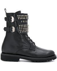 Philipp Plein - Studded Buckle Boots - Lyst