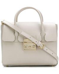 Furla Faux Fur Bucket Bag in Pink - Lyst 13b504700f2da