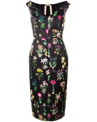 N°21 - Floral Print Sleeveless Dress - Lyst