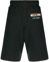 Moschino - Logo Print Track Shorts - Lyst