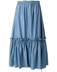See By Chloé - Tiered Midi Skirt - Lyst
