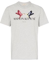Maison Kitsuné Tee Light Grey Melange