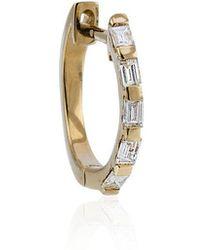 SHAY - Mini Baguette Diamond Hoop Earrings - Lyst