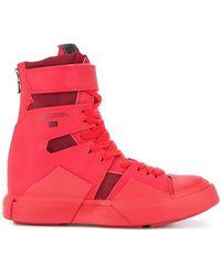 Julius - Strapped Hi-top Sneakers - Lyst