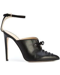 Chloe Gosselin - Salix Lace Up Detail Court Shoes - Lyst