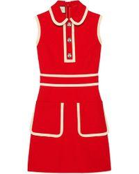 Gucci - Robe courte à bordures contrastantes - Lyst