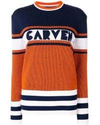 Carven - Jersey a paneles - Lyst