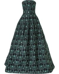 Isabel Sanchis - Bejewelled Ball Gown - Lyst
