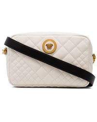 Versace - White Quilted Leather Bag - Lyst