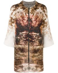 Clips - Forest Print Zipped Cardigan - Lyst