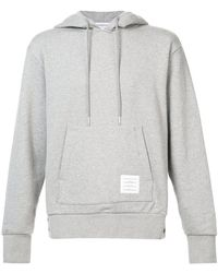 Thom Browne - Center-back Stripe Loopback Knit Pullover Hoodie - Lyst