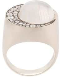 Noor Fares - Moonstone Eclipse Ring - Lyst