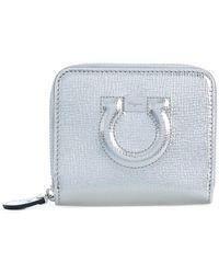 Ferragamo - Gancio Compact Zipped Wallet - Lyst