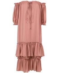 Olympiah - Ruffled Midi Dress - Lyst