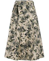 Bellerose - Floral Flared Midi Skirt - Lyst