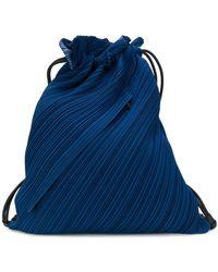 Pleats Please Issey Miyake - Textured Drawstring Bag - Lyst