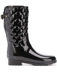 HUNTER - Refined Short Quilted Wellies - Lyst