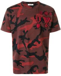 Valentino - Camouflage Print T-shirt - Lyst