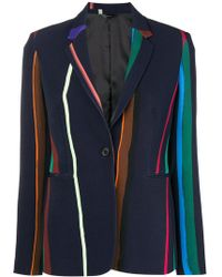 Paul Smith Black Label - Striped Bomber Jacket - Lyst
