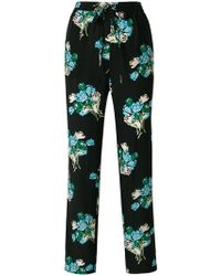 RED Valentino - Floral Print Trousers - Lyst