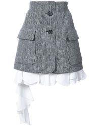 Monse - Herringbone Poplin Skirt - Lyst