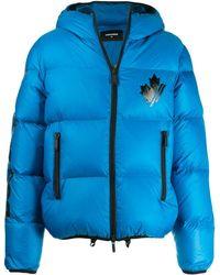 DSquared² フーデッド パデッドジャケット - ブルー