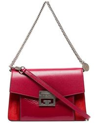 Givenchy - Cherry Red Gv3 Leather Shoulder Bag - Lyst