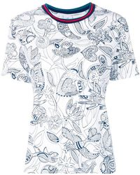 PS by Paul Smith - Floral Pattern T-shirt - Lyst