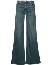 Nili Lotan - Flared Buttoned Jeans - Lyst