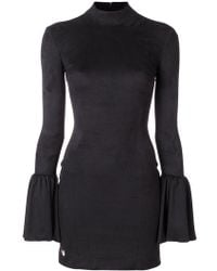 Philipp Plein - Fitted Dress With Flared Sleeves - Lyst