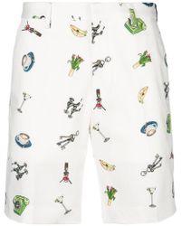 Fendi - Printed Shorts - Lyst