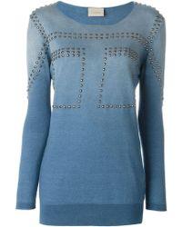 Laneus - Studded Sweatshirt - Lyst