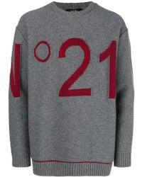 N°21 - Logo Knit Sweater - Lyst