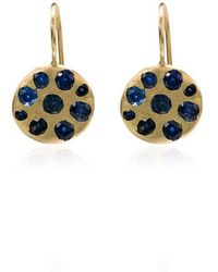 Polly Wales - 18k Gold And Crystal Circle Earrings - Lyst