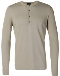 Dell'Oglio - Knitted Henley Top - Lyst