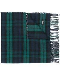 Stussy Double Faced Check Scarf - Green