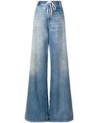 MM6 by Maison Martin Margiela - Wide-leg Stonewash Jeans - Lyst